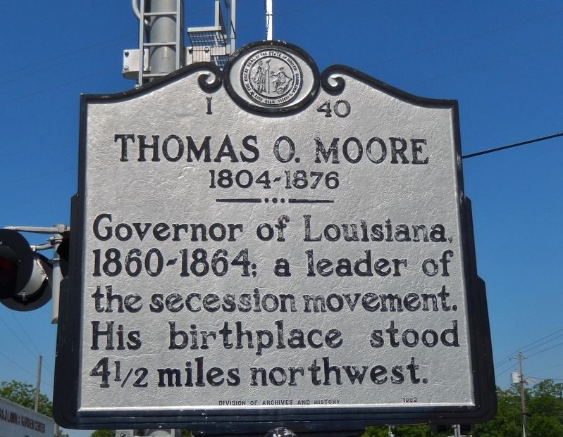 Thomas O. Moore Marker image. Click for full size.