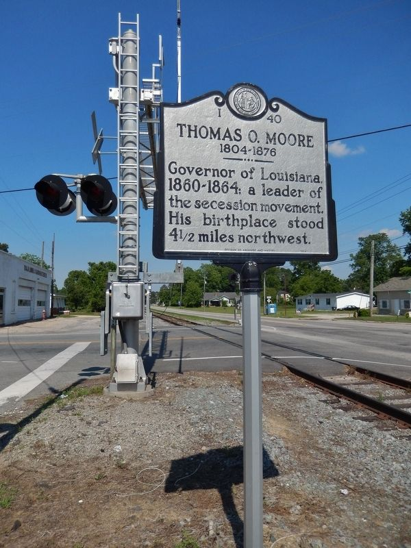 Thomas O. Moore Marker (<i>tall view</i>) image. Click for full size.