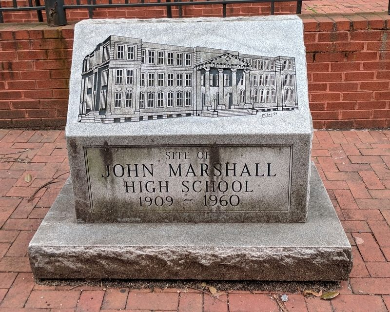 Site of John Marshall High School image. Click for full size.