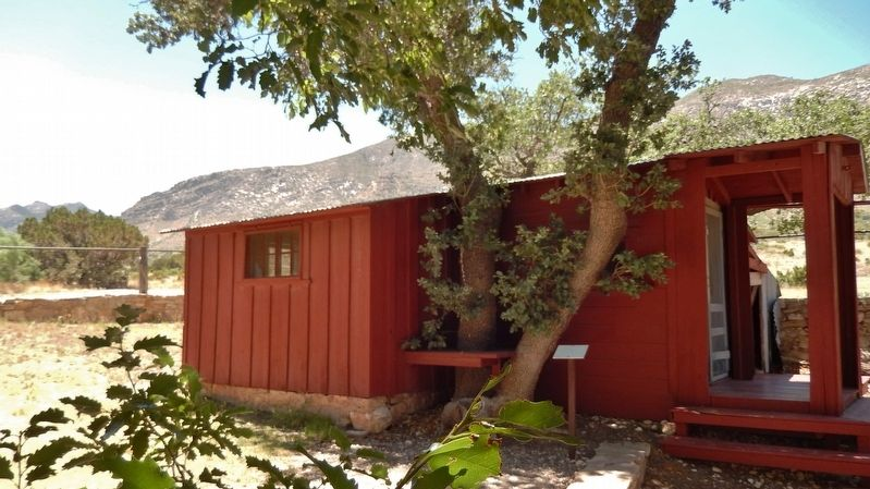 Frijole School House (<i>side view</i>) image. Click for full size.