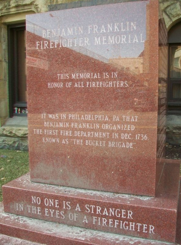 Benjamin Franklin Firefighter Memorial Dedication image. Click for full size.