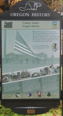 Camp Adair Marker image. Click for full size.