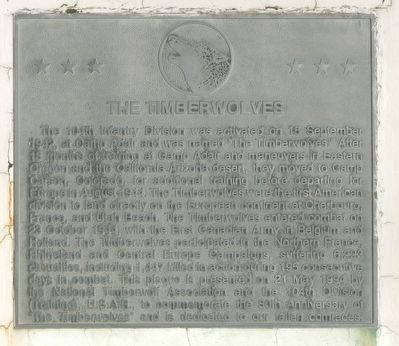 The Timberwolves Marker image. Click for full size.