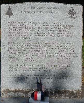 The Wild West Division Marker image. Click for full size.