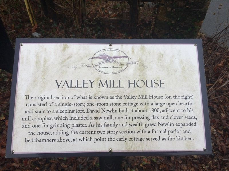 Valley Mill House Marker image. Click for full size.