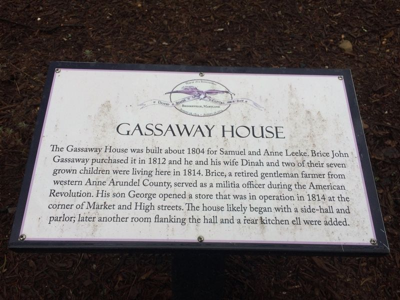 Gassaway House Marker image. Click for full size.