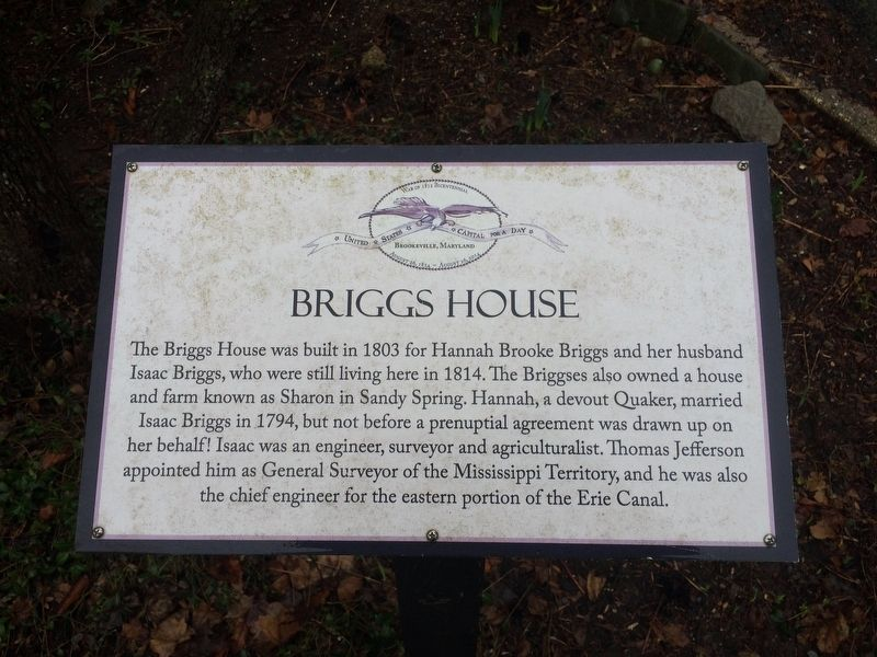 Briggs House Marker image. Click for full size.