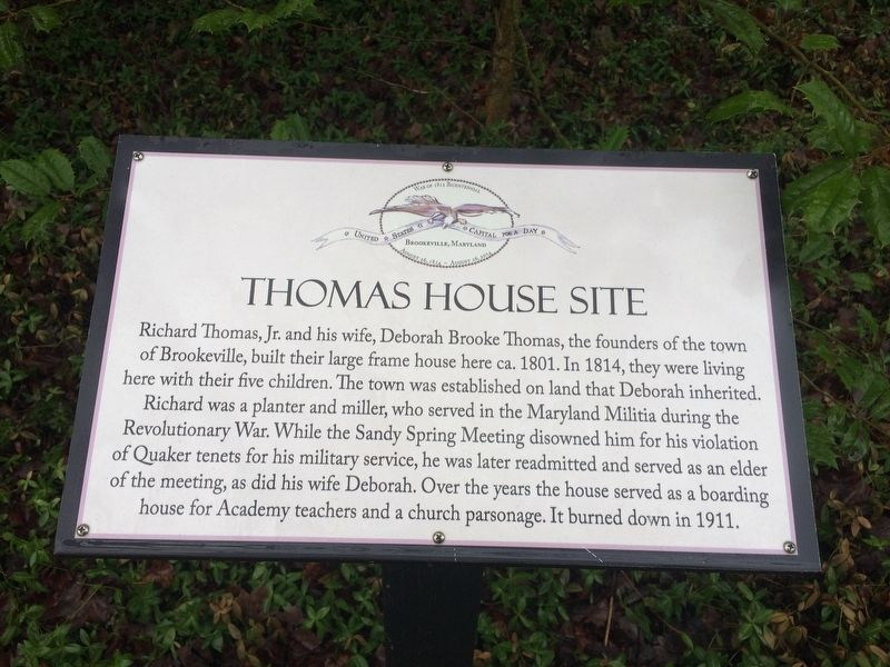 Thomas House Site Marker image. Click for full size.