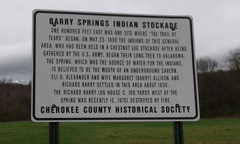 Barry Springs Indian Stockade Marker image. Click for full size.