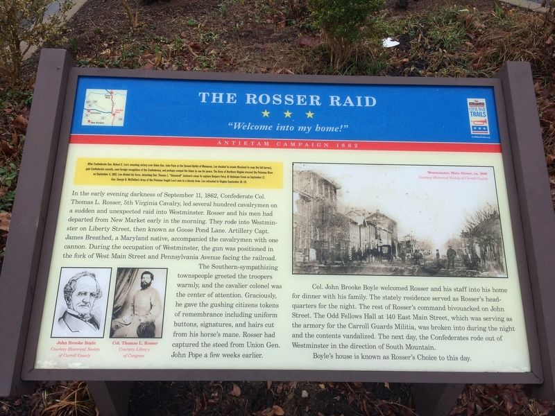 The Rosser Raid Marker image. Click for full size.