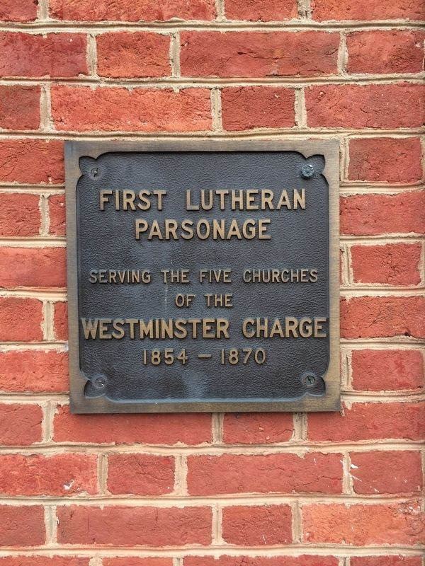 First Lutheran Parsonage Marker image. Click for full size.