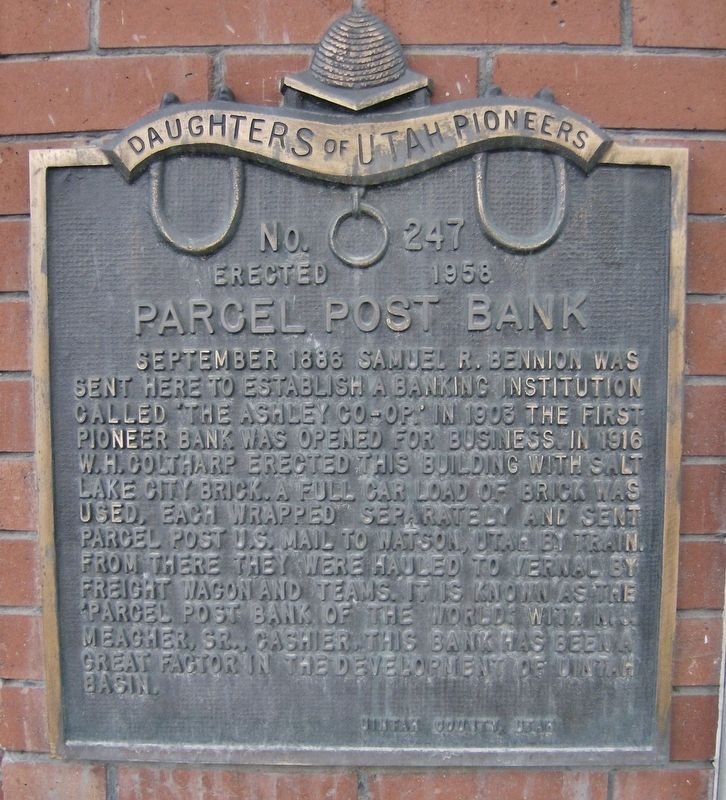 Parcel Post Bank Marker image. Click for full size.