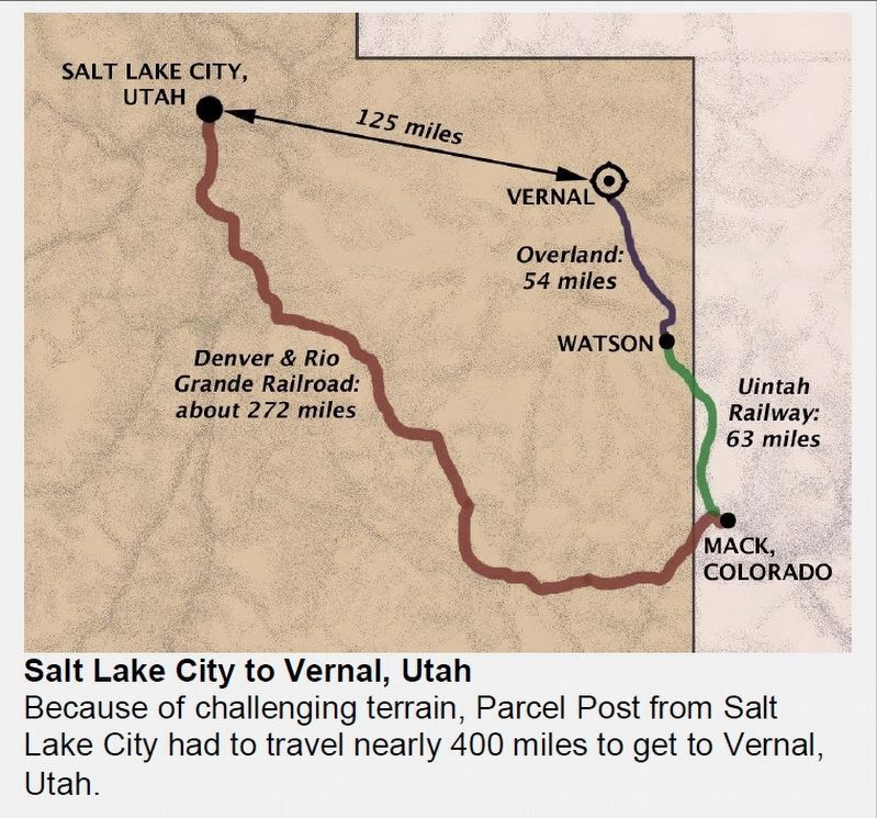 Salt Lake City to Vernal, Utah map image. Click for full size.