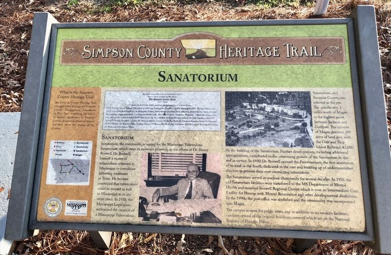 Sanatorium Marker image. Click for full size.