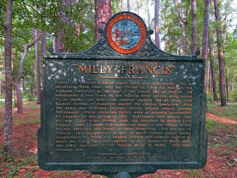 """Milly Francis"" Marker (obverse) image. Click for full size."