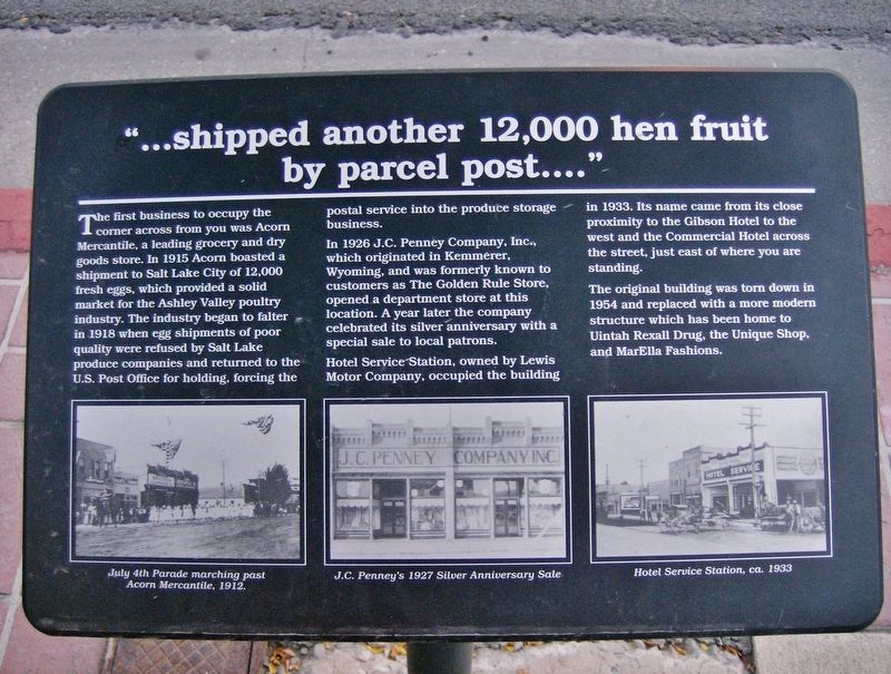 Shipped Another 12,000 Hen Fruit by Parcel Post Marker image. Click for full size.