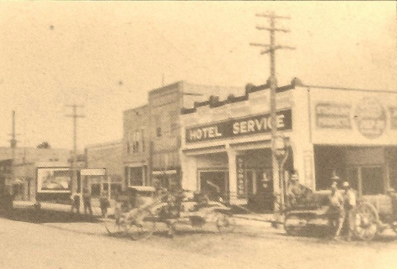 Marker detail: Hotel Service Station. ca. 1933 image. Click for full size.