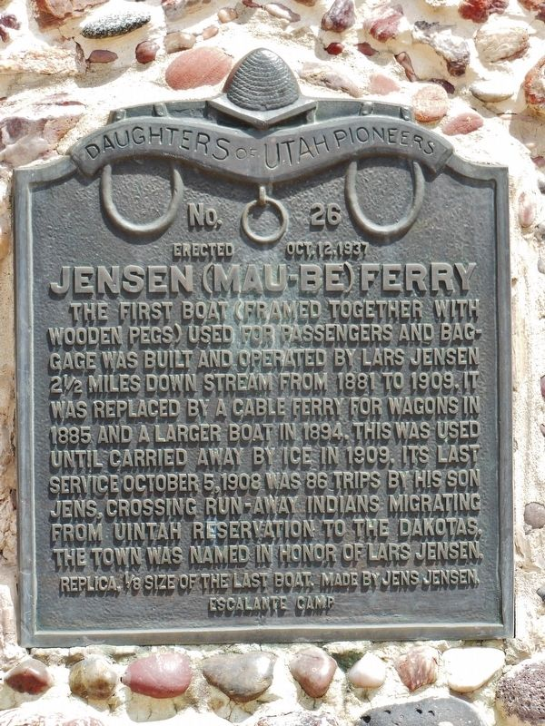 Jensen (Mau-be) Ferry Marker image. Click for full size.
