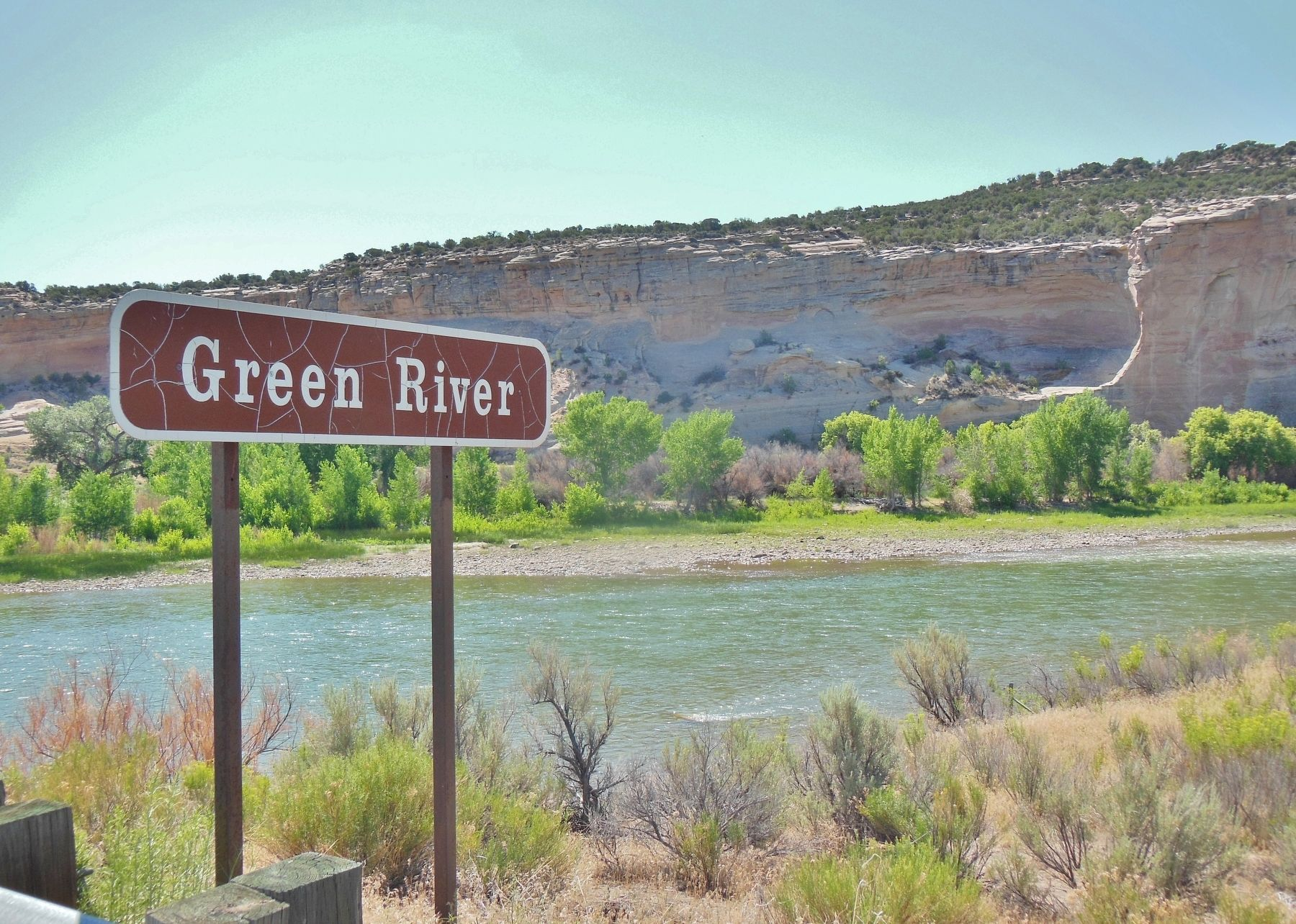 Green River (<i>Dinosaur National Monument; north of marker</i>) image. Click for full size.