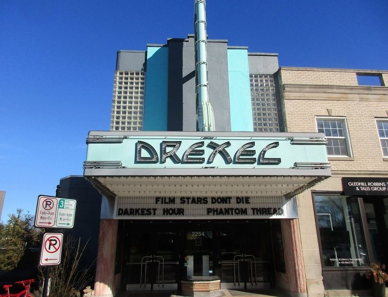The Drexel Theater Marker image. Click for full size.
