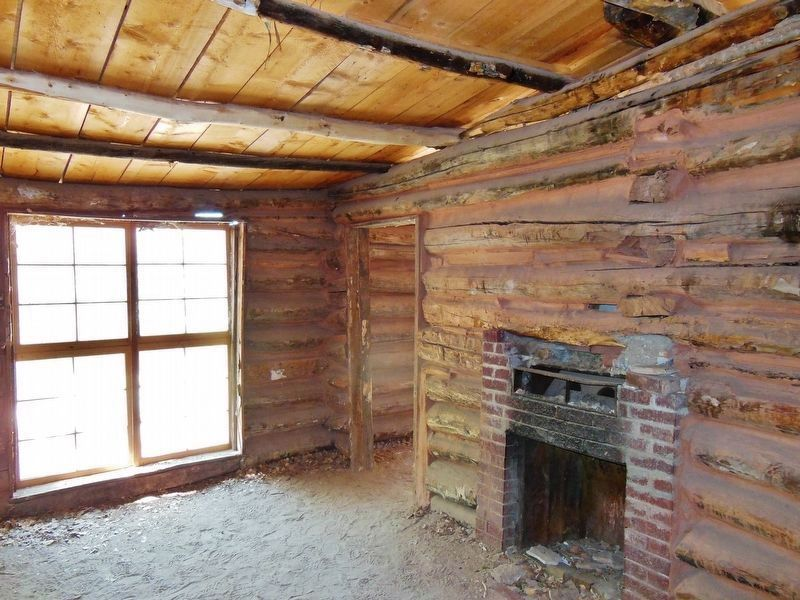 Josie Morris Homestead Cabin Interior (<i>dirt floor</i>) image. Click for full size.