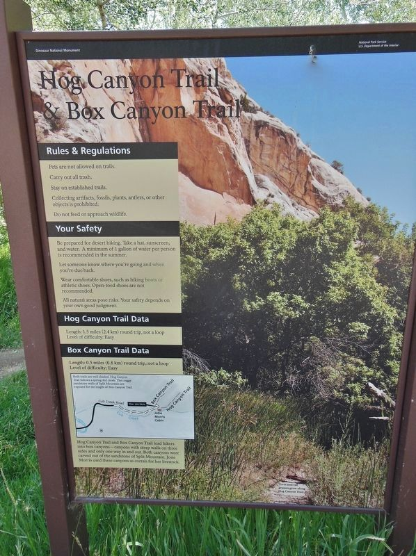 Box Canyon & Hog Canyon Trailhead Map image. Click for full size.