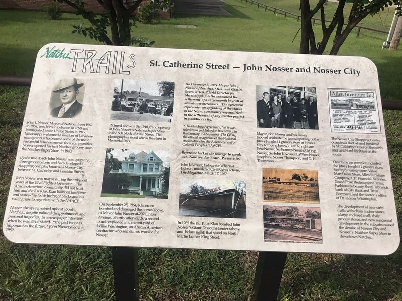 St. Catherine Street - John Nosser and Nosser City Marker image. Click for full size.