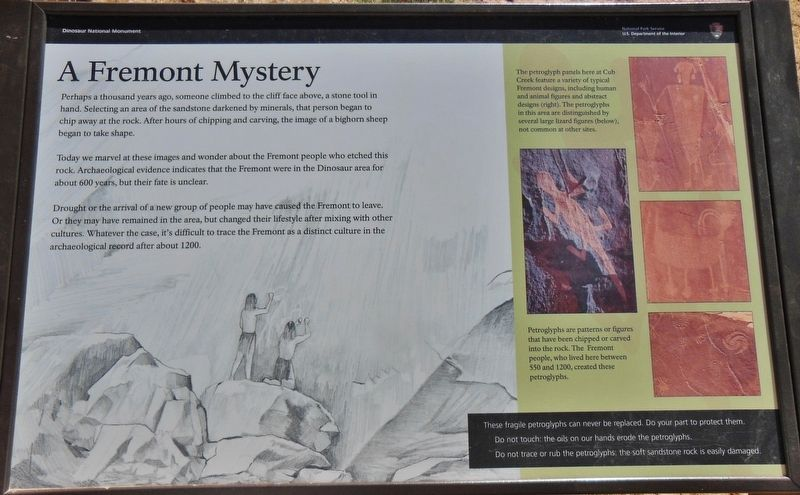 A Fremont Mystery Marker image. Click for full size.