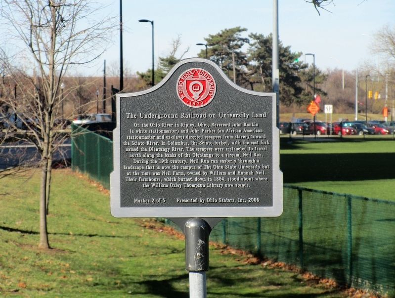 The Underground Railroad on University Land Marker image. Click for full size.