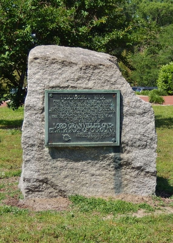 Tuscarora War Marker (<i>tall view</i>) image. Click for full size.