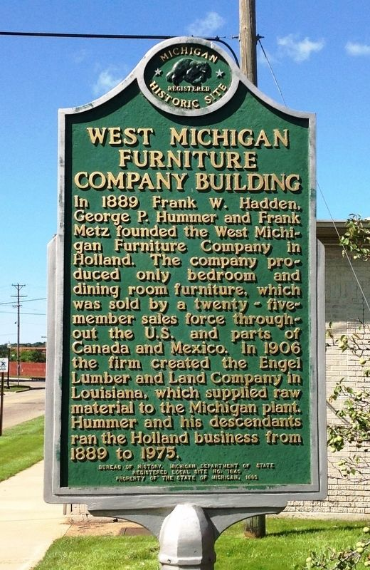 West Michigan Furniture Company Building Marker image. Click for full size.