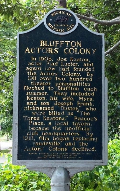 Bluffton Actors' Colony / Buster Keaton Marker image. Click for full size.