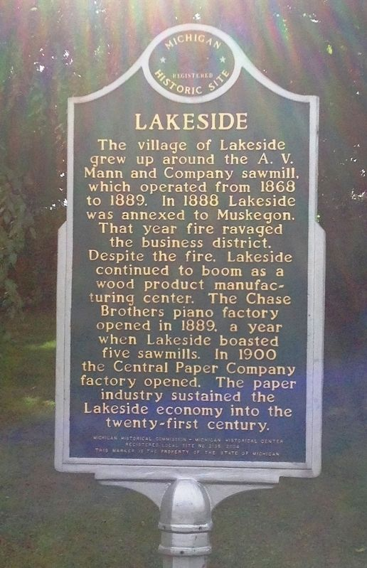 Lakeside Marker image. Click for full size.