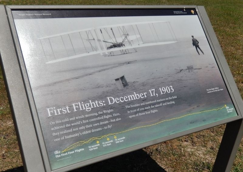 First Flights: December 17th, 1903 Marker image. Click for full size.