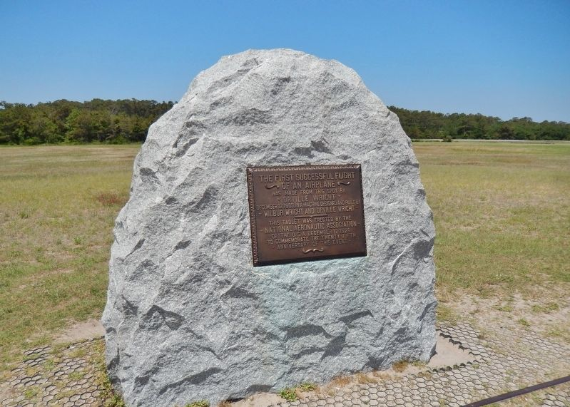 First Flight Boulder (<i>near this marker</i>) image. Click for full size.