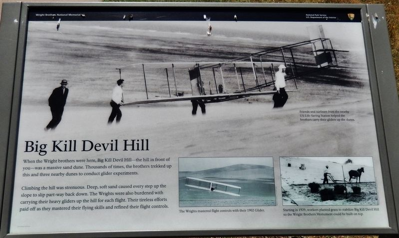 Big Kill Devil Hill Marker image. Click for full size.