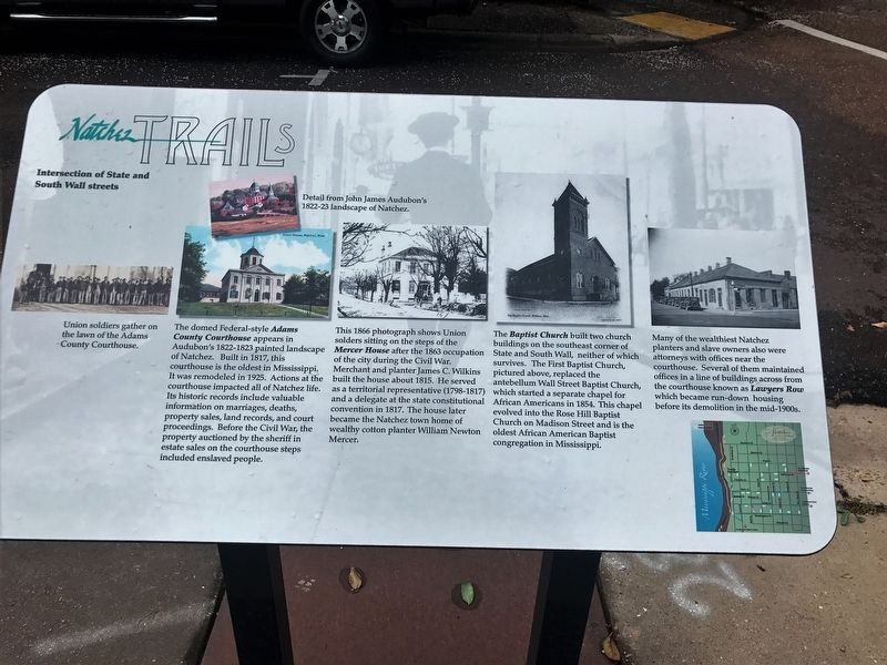 Intersection of State and South Wall streets Marker image. Click for full size.
