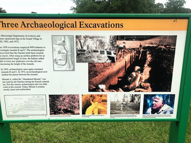Three Archaeological Excavations Marker image. Click for full size.
