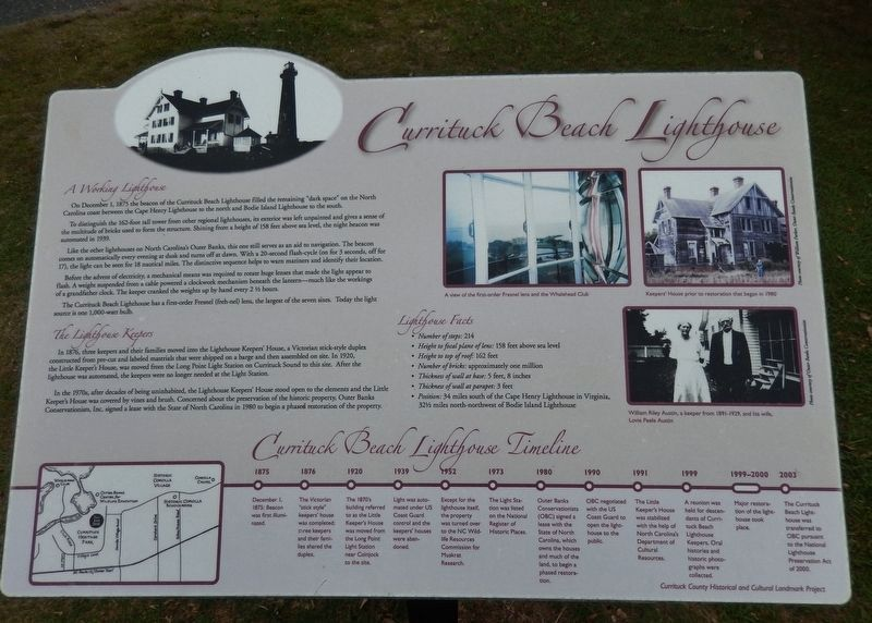 Currituck Beach Lighthouse Marker image. Click for full size.