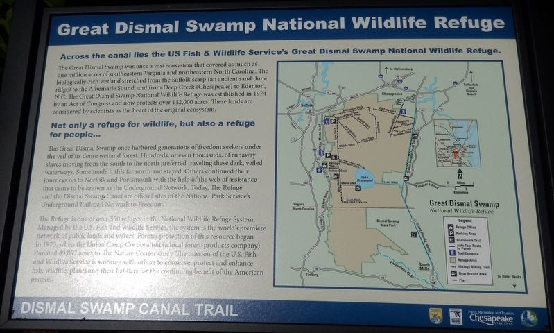 Great Dismal Swamp National Wildlife Refuge Marker image. Click for full size.