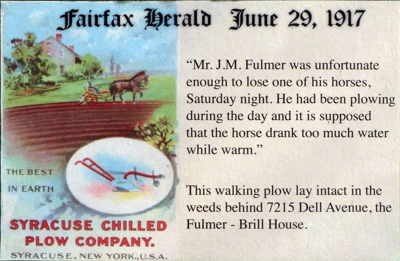 The Fairfax Herald Marker image. Click for full size.
