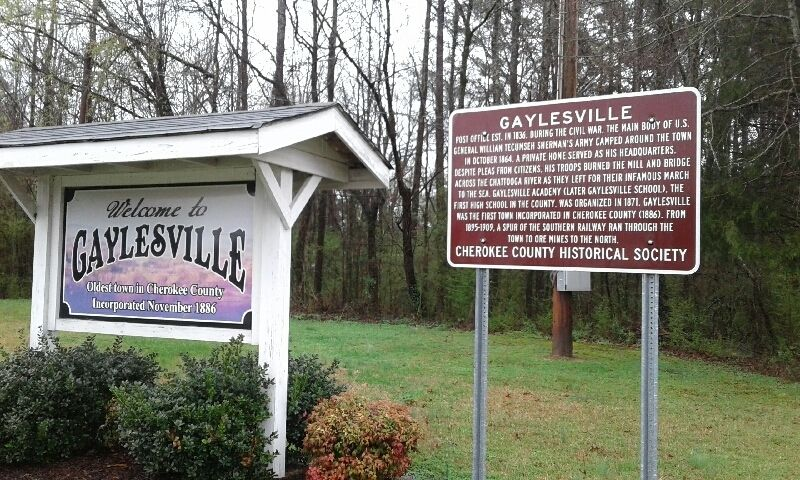 Gaylesville Marker image. Click for full size.