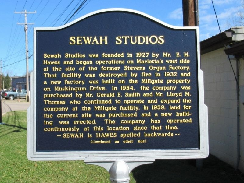 Sewah Studios Marker image. Click for full size.