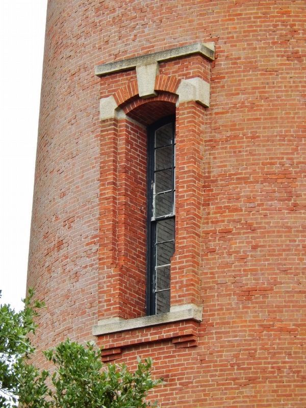 Currituck Beach Lighthouse (<i>exterior window brick detail</i>) image. Click for full size.