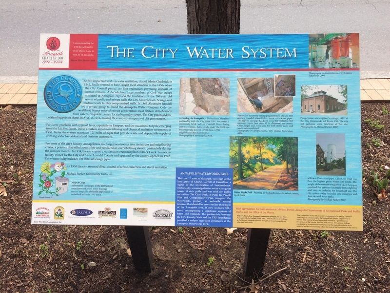 The City Water System Marker image. Click for full size.