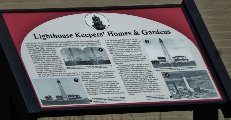 Lighthouse Keepers' Homes & Gardens Marker image. Click for full size.