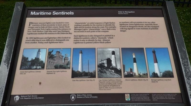 Maritime Sentinels Marker image. Click for full size.