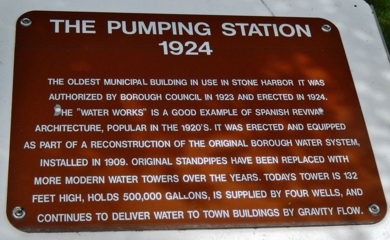 Pumping Station 1924 Marker image. Click for full size.