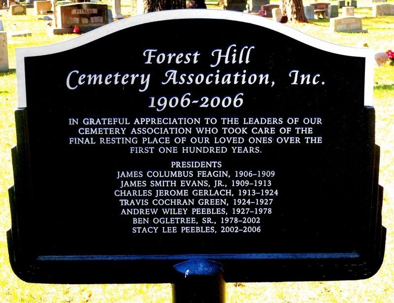Forest Hill Cemetery Marker image. Click for full size.