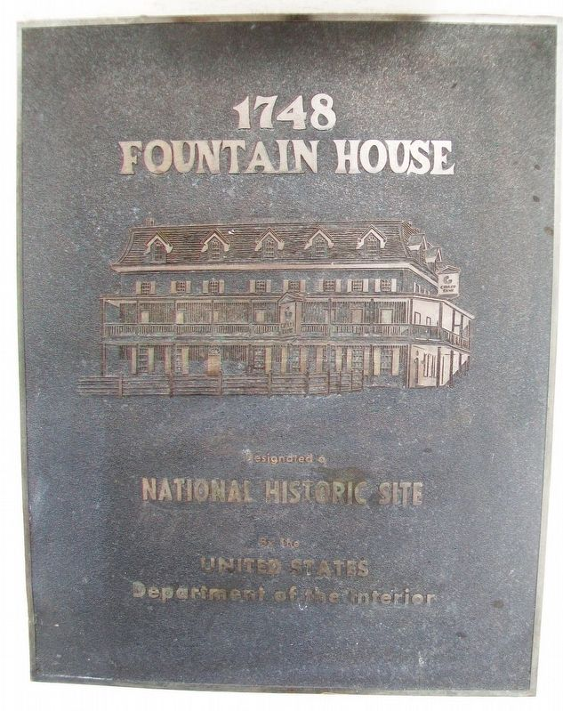 1748 Fountain House Marker image. Click for full size.